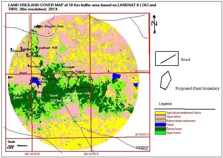 land use land cover map of Welspun's Mirzapur Thermal Power Plant by VENHF