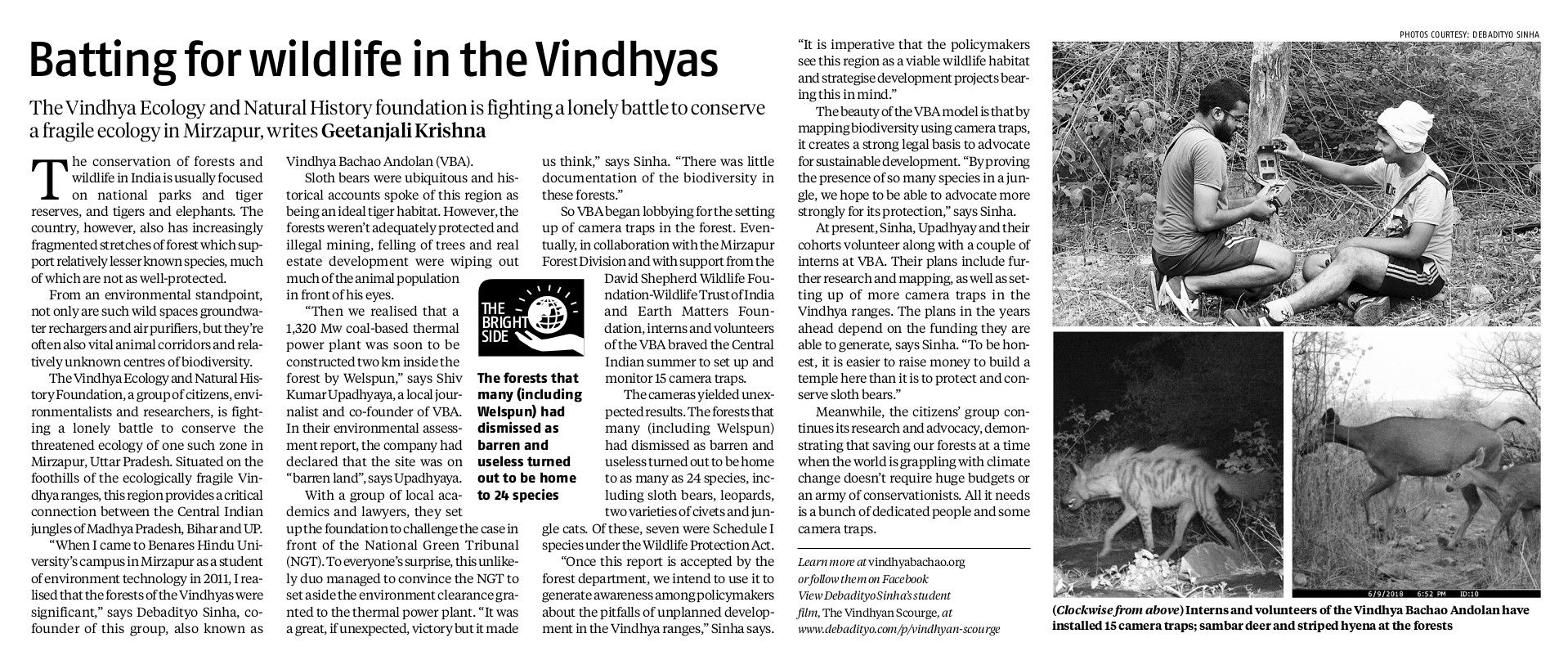 Scan copy of Batting for Wildlife-Business Standard-22 December 2018
